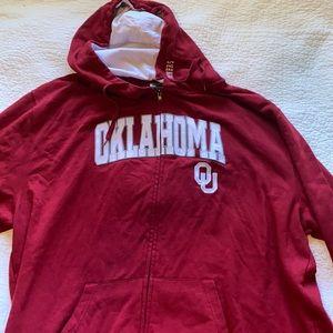 🏈BOOMER SOONER-Oklahoma University zip up hoodie